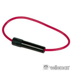 Porta-Fusíveis In-Line 5x20mm E 6.35mmx30mm Fecho De Rosca - (FUSEIL56)