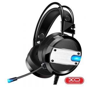 Auscultadores Gaming C/ Fios Preto XO - (GE-02-BK)