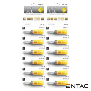 Expositor 12X Tubos Super Cola Adesiva Multiusos 3G ENTAC - (GG3G-INT)