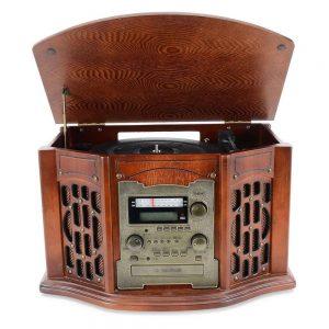 Gira-Discos 33/45/78RPM AM/FM/Cd/Cassete - (RETRO11)