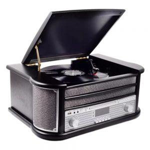 Gira-Discos 33/45/78RPM Vintage 2x2.5W Preto DENVER - (MRD-51BLACK)