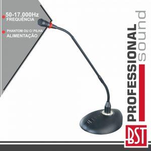 """Microfone Condensador Pescoço Cisne 15"""" Botão BST - (GM20)"""