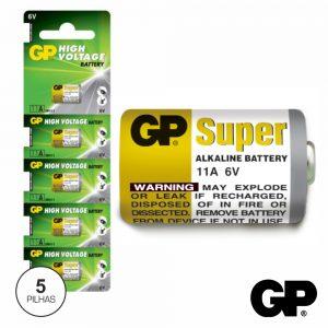 Pilha Alcalina 11A 6v 5x Blister Gp - (GP11A-BL5)