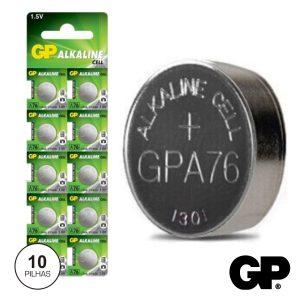 Pilha Botão Alcalina LR44/Ag13/V13ga/A76 1.5v 10X Blister Gp - (GPA76-BL10)