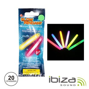 Conjunto 20 Barras Luminescentes Multicor 100mm IBIZA - (GS10-100)