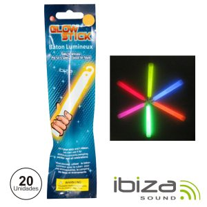Conjunto 20 Barras Luminescentes Multicor 150mm IBIZA - (GS15-150H)