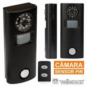 Alarme C/ Sensor Movimentos Pir Câmara E Comando VELLEMAN - (HAM202)