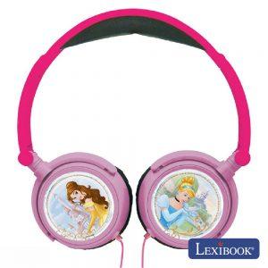 Auscultadores C/ Fios Stereo Disney Princesa Lexibook - (HP010DP)