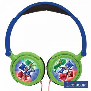 Auscultadores C/ Fios Stereo Pj Masks Lexibook - (HP015PJM)
