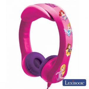 Auscultadores C/ Fios Stereo Disney Princesa Lexibook - (HP018DP)