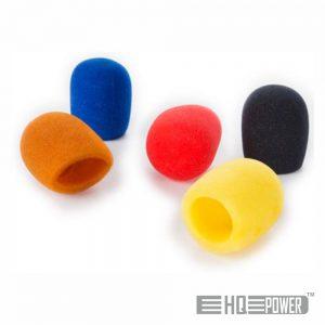 Conjunto 5 Esponjas P/ Microfone Windcap Sortidas HQ POWER - (HQMC10010)