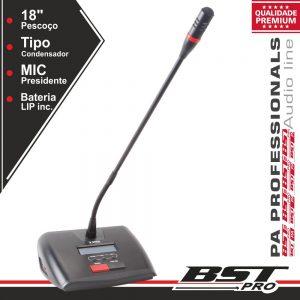 Microfone Condensador Presidente P/ Conferência Ajustável - (HT-2288C)