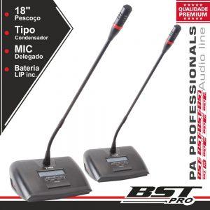 Microfone Condensador Delegado P/ Conferência Ajustável 2x - (HT-2288D)