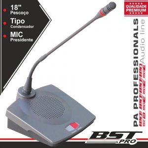 Microfone Condensador Presidente P/ Conferência Ajustável - (HT-8310C)
