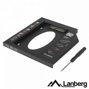 """Adaptador SSD/HDD 2.5"""" Para 5.25"""" LANBERG - (IF-SATA-10)"""