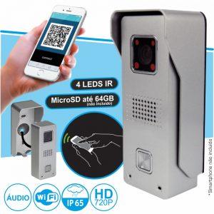 Vídeo Porteiro Wi-Fi E RJ45 C/ Alarme P/ Smartphone - (IMAGO)