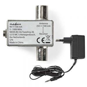 Injector De Tensão 5V Em Cabo Coaxial Para Antenas Tdt - (SPIN200ME)