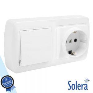 Interruptor E Tomada De Parede 10a 250v SOLERA - (SLR-MUR63U)