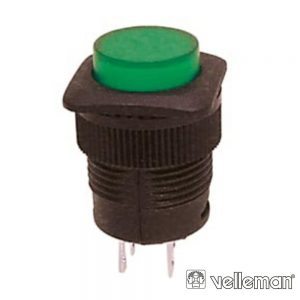 Interruptor OFF-(ON) Verde c/ LED VELLEMAN - (R1394B/G)