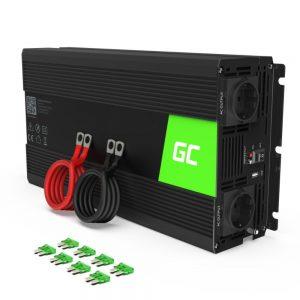 Conversor 12V-230V 1500W Onda Modificada GREEN CELL - (INV25)