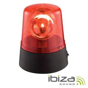 Pirilampo LEDS Rotativo 360º Vermelho IBIZA - (JDL008R-LED)