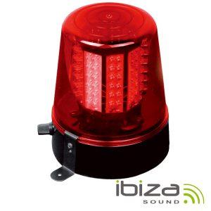 Pirilampo LEDS Rotativo 360º Vermelho IBIZA - (JDL010R-LED)