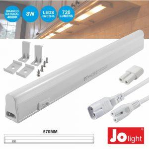 Armadura LED Batten 8W 57cm IP20 4000K 720lm JOLIGHT - (JO302/022NW)
