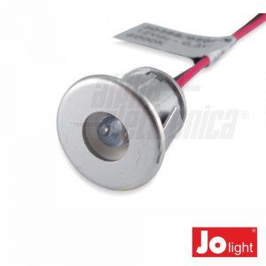 Foco LED 0.3W 12V 18mm Azul P/ Encastrar IP20 Jolight - (JO388/020B)