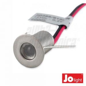 Foco LED 0.2W 12V 14mm Branco Quente P/ Encastrar IP20 - (JO388/010WW)