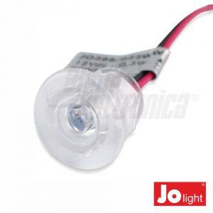 Foco LED 0.3W 12V 18mm Branco Frio P/ Encastrar IP20 Jol - (JO388/022PW)