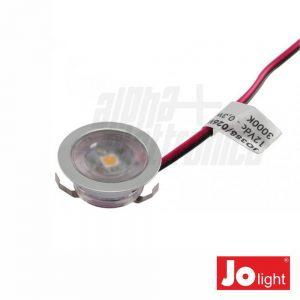 Foco LED 0.3W 12V 30mm Branco Quente P/ Encastrar IP20 Jolig - (JO388/026WW)