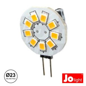 Lâmpada G4 1.5W 10-30V 9 LEDS Branco Frio Jolight - (JO500/1)