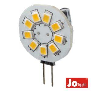 Lâmpada G4 1.2W 12V 9 LEDS Branco Quente Jolight - (JO500/1WW)