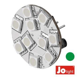 Lâmpada G4 2.2W 12V 10 LEDS Verde Jolight - (JO507G)