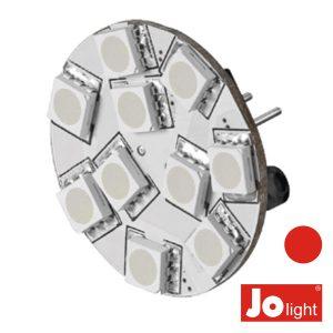 Lâmpada G4 2.2W 12V 10 LEDS Vermelho Jolight - (JO507R)