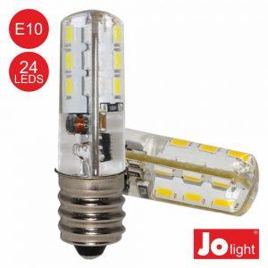 Lâmpada LED E10 1.5W 12V AC/DC Branco Frio 120lm Jolight - (JO548/21PW)
