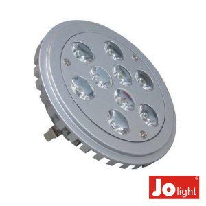 Lâmpada G53 9W 12V 9 LEDS PAR36 Branco Frio - (JO555/10)