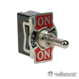 Interruptor Alavanca 10a-250v Dpdt On-Off-On VELLEMAN - (JS-511CLC)