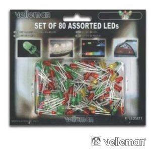 Conjunto De 80 LEDS 3mm-5mm Cores Sortidas - (K/LED1)