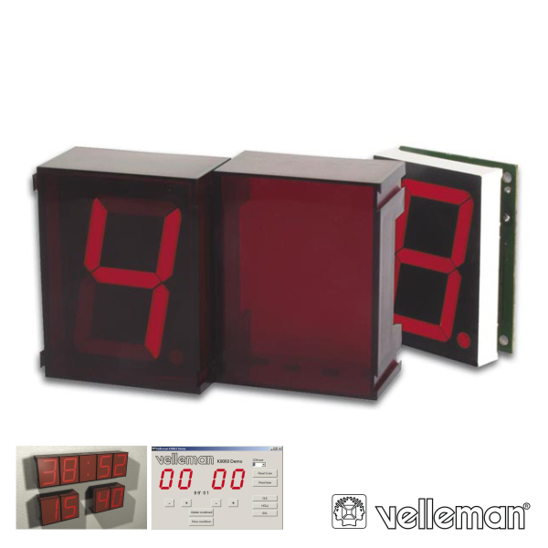 2 Dígitos Modulares C/ Interface Serie VELLEMAN - (K8063)
