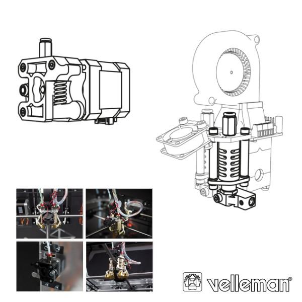 2ª Cabeça Impressão P/ Impressora 3d Vertex K8400 VELLEMAN - (K8402)