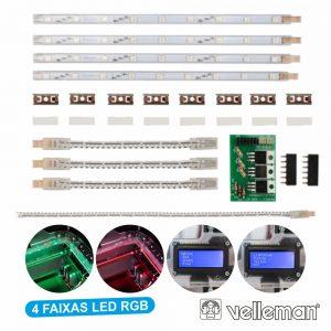 Faixas LED RGB P Impressora 3d K8400 VELLEMAN - (K8403)