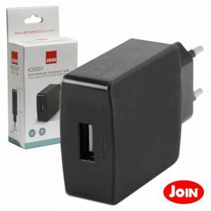 Alimentador Compacto Comutado 1 USB 5v 2.1A Preto JOIN - (KD503/1)