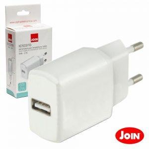 Alimentador Compacto Comutado 1 USB 5v 2.1A Branco JOIN - (KD503/1B)