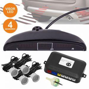 Kit De Estacionamento C/ 4 Sensores Cinza E Visor - (KPS01GR)