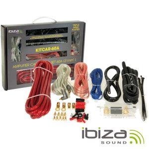 Kit De Cabos Completo P/ Amplificador/Colunas 60a IBIZA - (KITCAR60A)