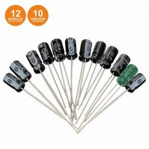 Conjunto De 120 Condensadores Electroliticos - (KITCE1210)