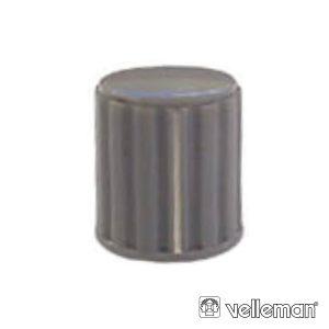 Botão P/ Potenciómetro Cinza C/ Linha Branca 14x16mm - (KN146GS)
