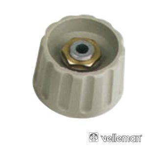 Botão P/ Potenciómetro Cinza 21x6mm - (KN216G)