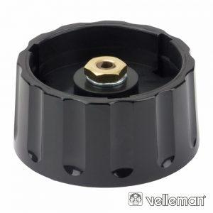 Botão P/ Potenciómetro Preto 36x6mm - (KN366N3)